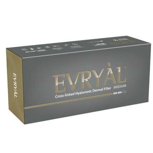 Filler labbra, filler rughe evryal medium acido ialuronico reticolato 20mg/ml